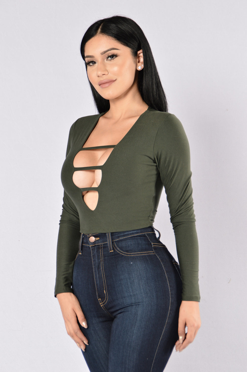 Here Today, Gone Tomorrow Top - Olive
