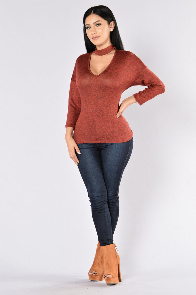 Lizette Sweater - Rust