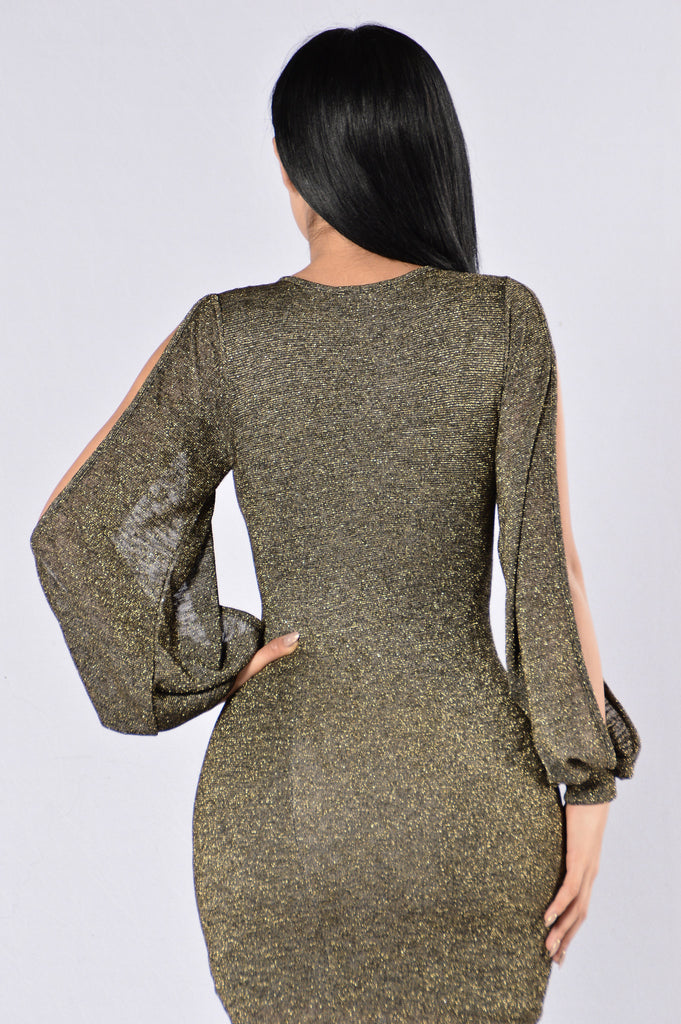 Still Not A Player Dress - Black/Gold