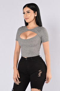 Sweet Tooth Top - Charcoal