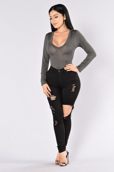 Voted Most Popular Bodysuit - Charcoal