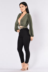 Heartbeat Top - Olive