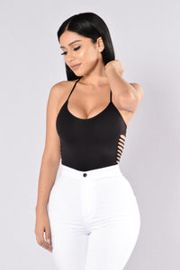 Little Bit In Love Bodysuit - Black