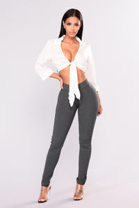 Sealed Envelope Ponte Pants - Grey