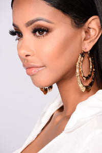 Fairen Hoop Earrings - Gold