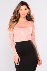 Tay Lace Top - Mauve