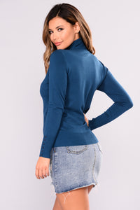 Elina Sweater Top - Deep Teal