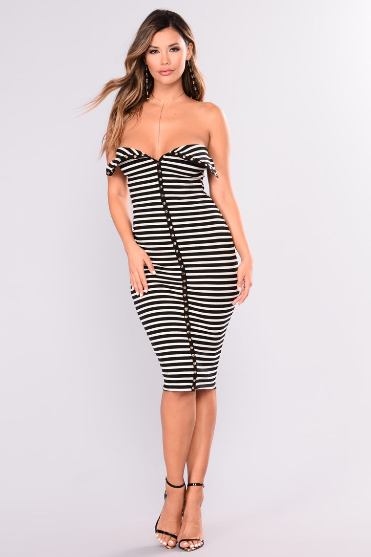 Sweet Talker Dress - Black/White