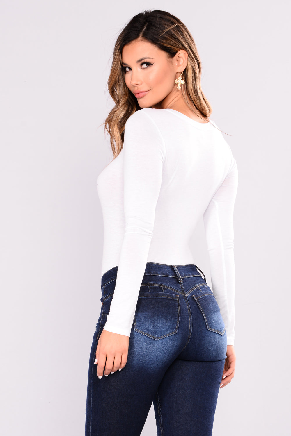Basic Long Sleeve Tee - Off White