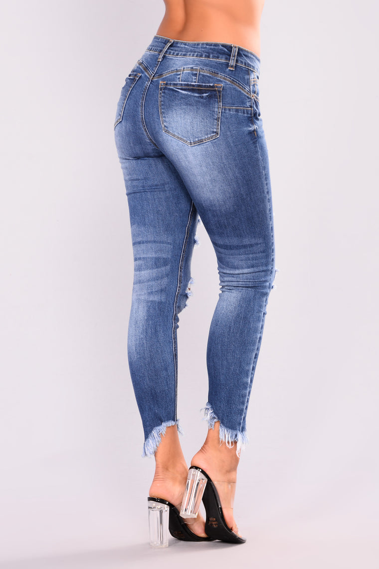 Something About These Booty Lifting Jeans - Medium BlueWash