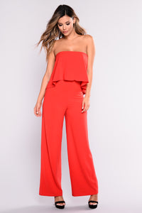Need Me Baby Tube Jumpsuit - Red Angle 6