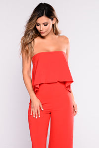 Need Me Baby Tube Jumpsuit - Red Angle 7