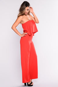 Need Me Baby Tube Jumpsuit - Red