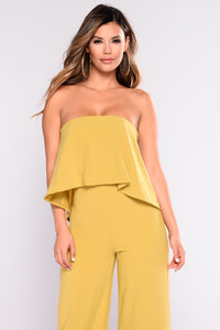 Need Me Baby Tube Jumpsuit - Mustard Angle 7