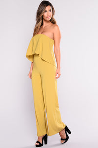 Need Me Baby Tube Jumpsuit - Mustard Angle 6