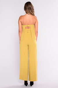 Need Me Baby Tube Jumpsuit - Mustard Angle 8