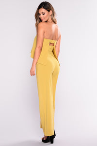 Need Me Baby Tube Jumpsuit - Mustard Angle 9