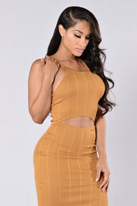 Own It Dress - Mustard Angle 5
