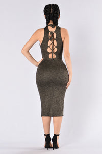 Do For Love Dress - Olive