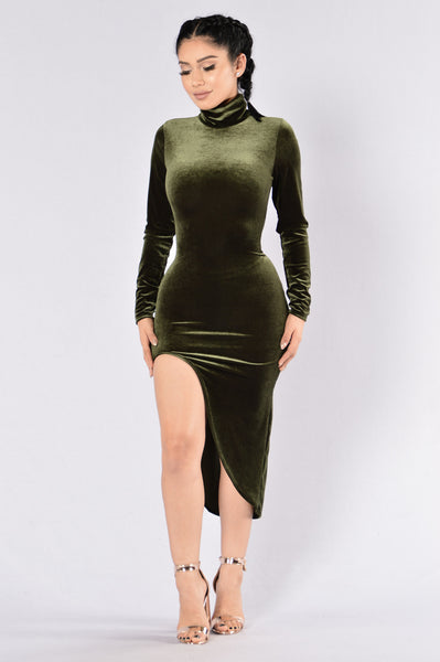 Not A Side Chick Dress - Olive