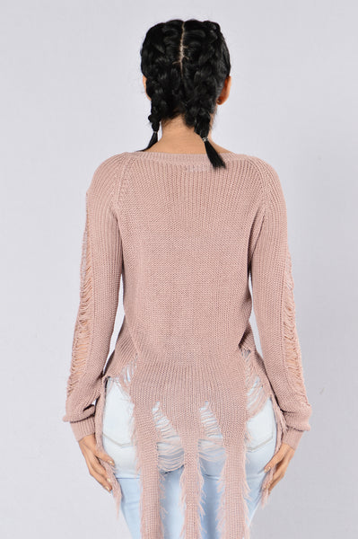 True Colors Sweater - Dusty Rose