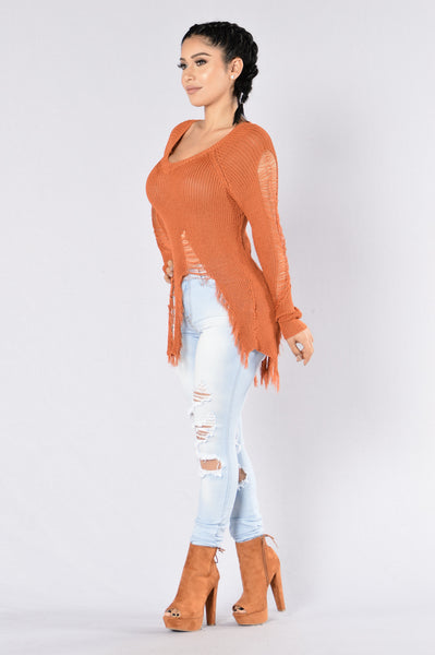 True Colors Sweater - Pumpkin Spice