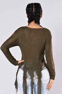 True Colors Sweater - Olive
