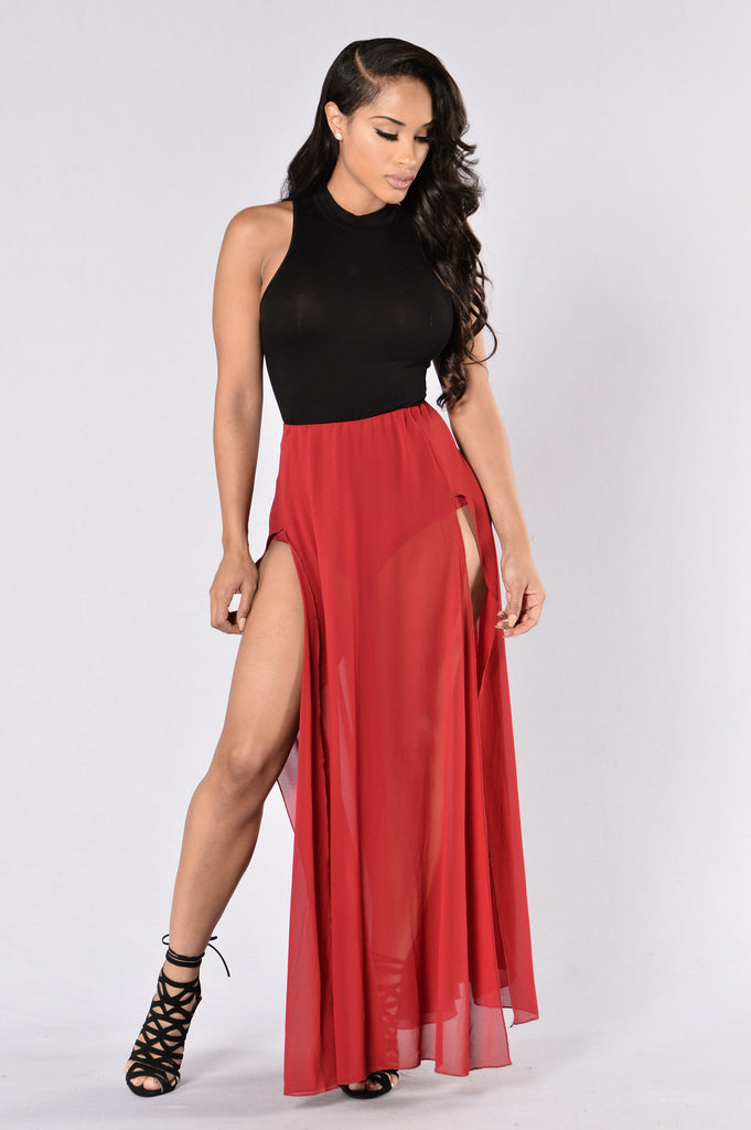 Can't Stop Me Now Skirt - Burgundy