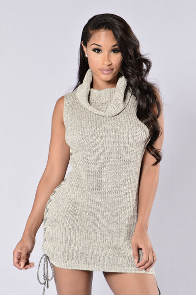 Come Closer Sweater Dress - Oatmeal