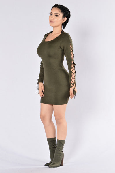 Double Agent Dress - Olive