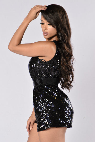 Ball And Chain Romper - Black