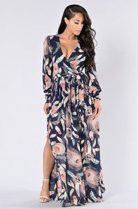 Brunch Date Dress - Navy Angle 1
