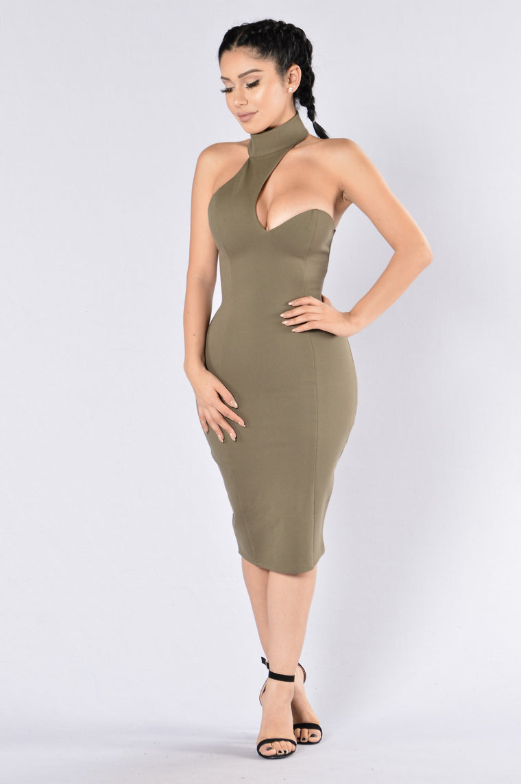 Out With The Girls Dress - Olive