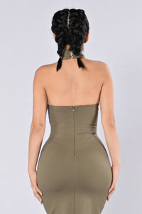 Out With The Girls Dress - Olive Angle 3