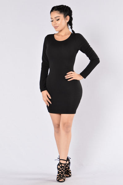 Stay With Me Dress - Black