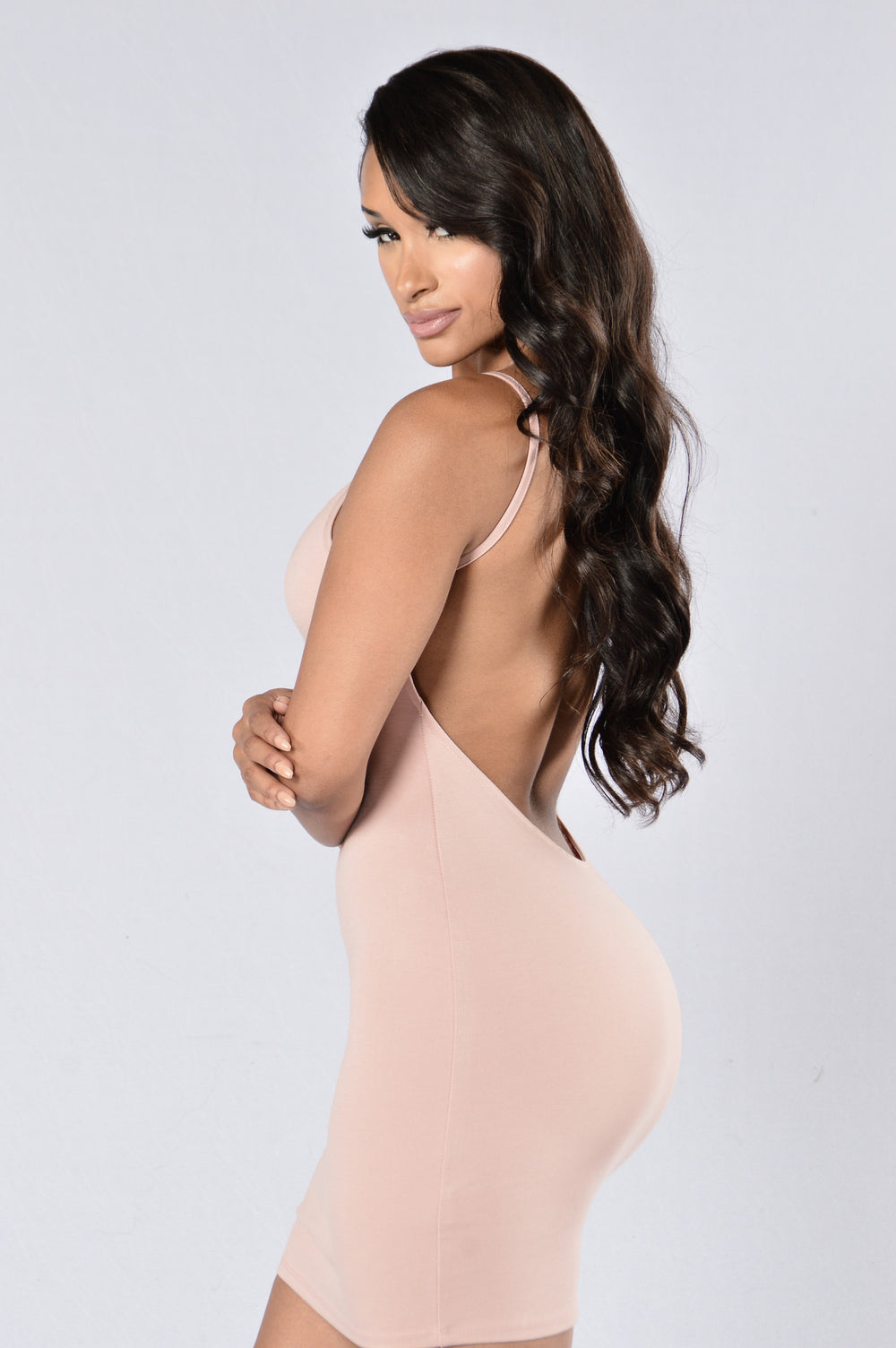 Swoop In Dress - Dusty Pink
