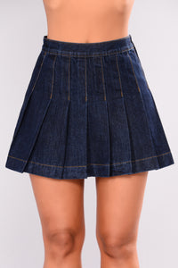 Nakita Denim Skirt - Dark Denim
