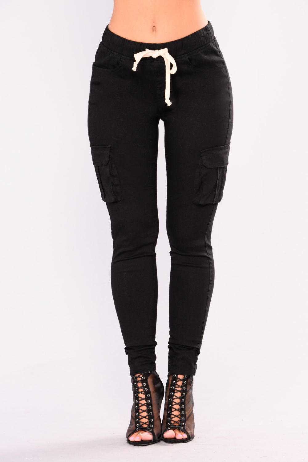 Sabina Cargo Pants - Black