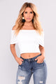 Worth It All Bandage Crop Top - White