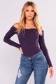 Smock It To Me Top - Eggplant