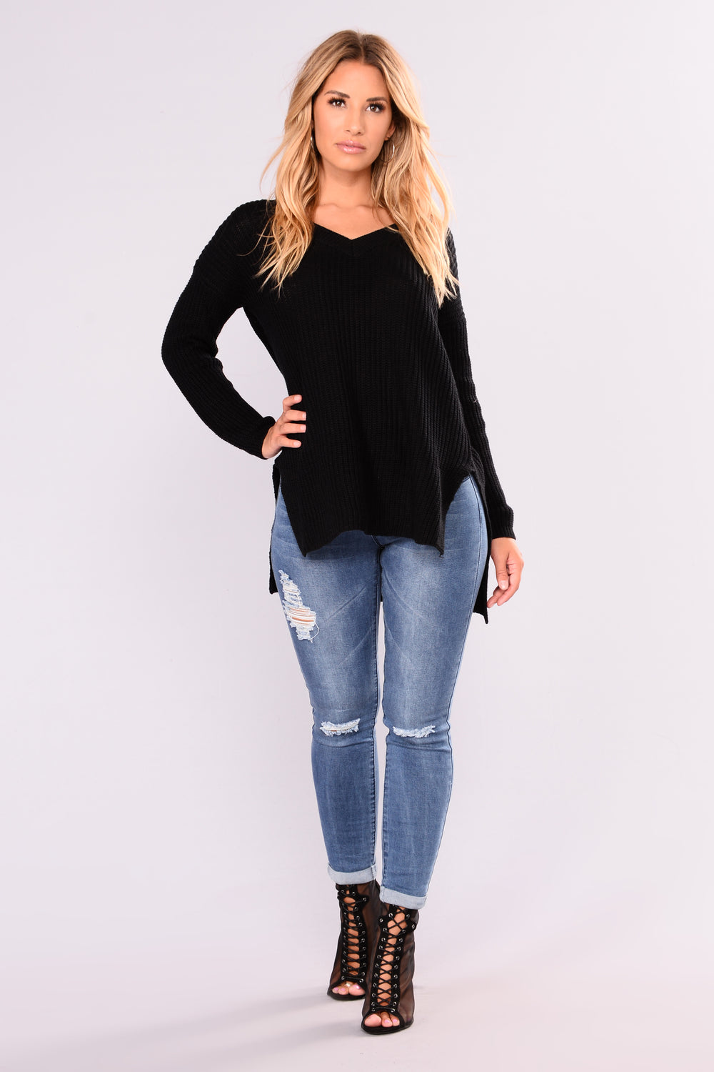 Camille Oversized Sweater - Black
