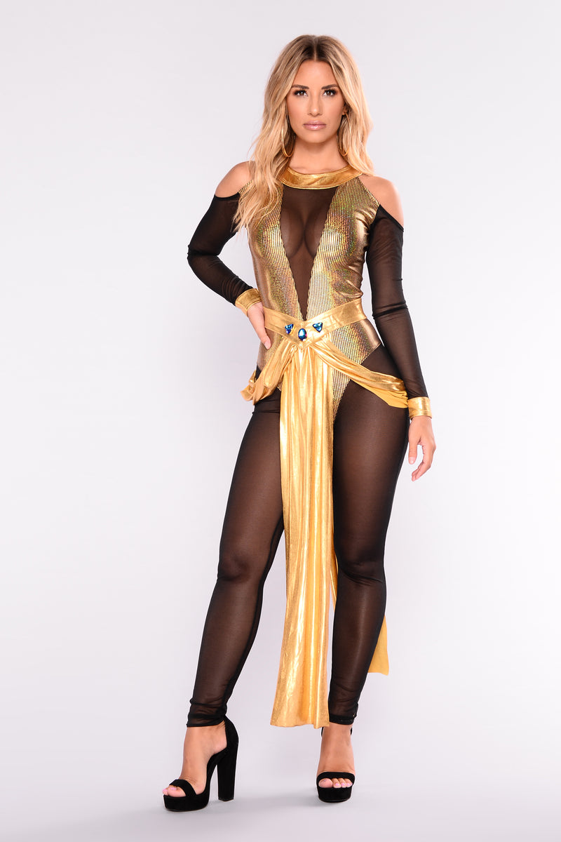 Queen Cleopatra Costume - Gold  sc 1 st  Fashion Nova : cute army costumes girl  - Germanpascual.Com
