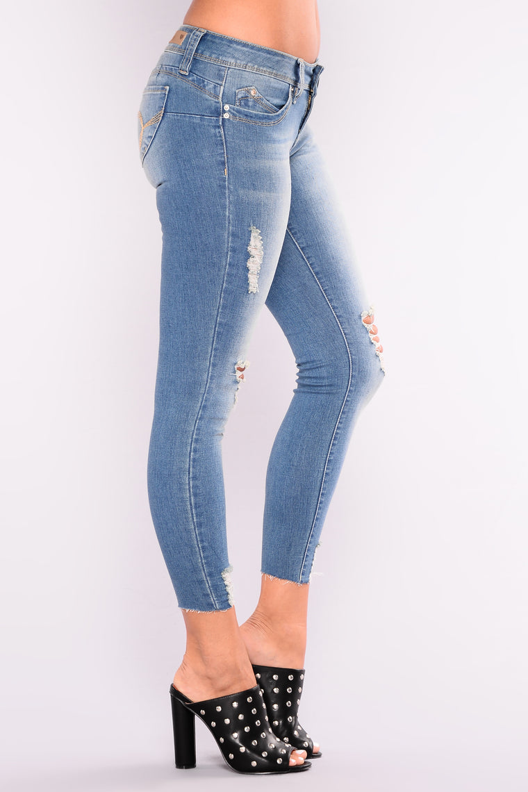Dance Dance Dance Booty Lifting Jeans - Light Blue Wash
