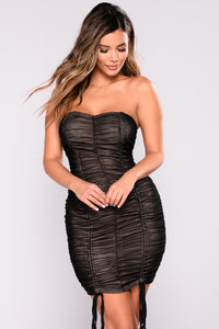 Malina Mesh Dress - Black