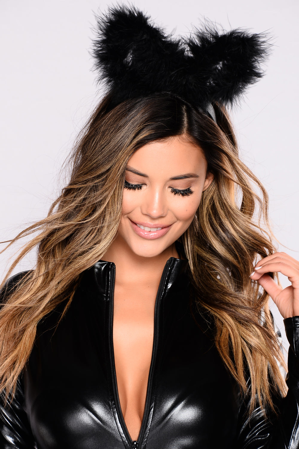 Fluff Me Up Headband - Black