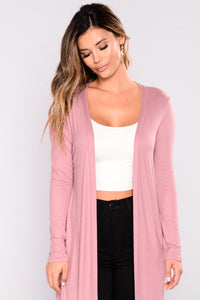 Must Have Basic Duster - Dark Mauve