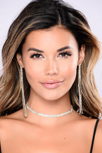 Rayna Choker And Earring Set - Silver