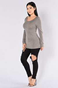 College Education Sweater - Grey