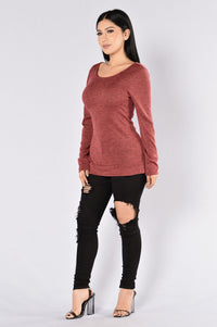 College Education Sweater - Burgundy
