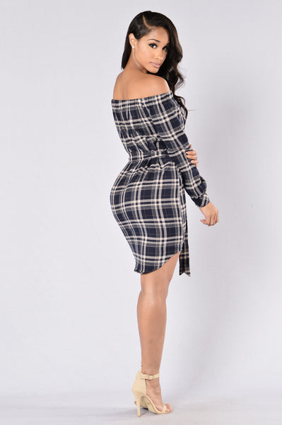 As If Dress - Navy